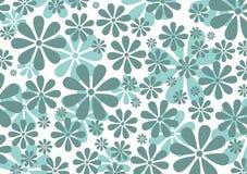 Η αναδρομική Daisy Pattern Στοκ Εικόνα