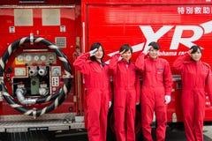 Η αναθεώρηση Kanagawa, Ιαπωνία πυρκαγιάς του νέου έτους Στοκ Εικόνες