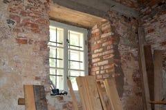 Η ανακαίνιση ενός σπιτιού Στοκ εικόνα με δικαίωμα ελεύθερης χρήσης