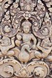 Η ανακούφιση του ναού Angkor (Banteay Srei), Siem συγκεντρώνει, Καμπότζη Στοκ Φωτογραφίες