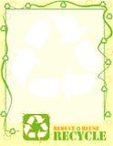 η ανασκόπηση ανακύκλωσης μειώνει την επαναχρησιμοποίηση διανυσματική απεικόνιση