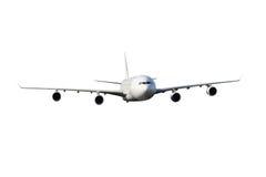 η ανασκόπηση απομόνωσε το μεγάλο λευκό αεροπλάνων Στοκ φωτογραφία με δικαίωμα ελεύθερης χρήσης