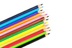 η ανασκόπηση απομόνωσε το πολύχρωμο λευκό μολυβιών Στοκ φωτογραφίες με δικαίωμα ελεύθερης χρήσης
