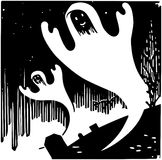 η ανασκόπηση γιορτάζει τις διακοπές αποκριών φαντασμάτων ελεύθερη απεικόνιση δικαιώματος