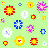 η ανασκόπηση εύκολη επιμελείται τα στρώματα λουλουδιών στο διάνυσμα Στοκ Εικόνα