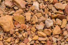 η ανασκόπηση διασταυρώνει τη δύσκολη δομή πετρών βράχου Στοκ Εικόνες