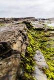 η ανασκόπηση διασταυρώνει τη δύσκολη δομή πετρών βράχου Στοκ Φωτογραφία