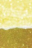 η ανασκόπηση κάμπτει τη χρυσή μακρο παλαιά σύσταση πλαισίων Στοκ εικόνα με δικαίωμα ελεύθερης χρήσης