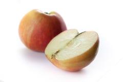η ανασκόπηση μήλων το λευ&ka Στοκ Εικόνες