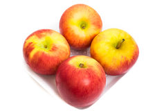 η ανασκόπηση μήλων απομόνωσε το λευκό Στοκ εικόνες με δικαίωμα ελεύθερης χρήσης