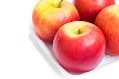 η ανασκόπηση μήλων απομόνωσε το λευκό Στοκ φωτογραφίες με δικαίωμα ελεύθερης χρήσης