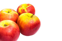η ανασκόπηση μήλων απομόνωσε το λευκό Στοκ εικόνα με δικαίωμα ελεύθερης χρήσης