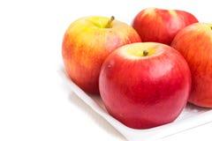 η ανασκόπηση μήλων απομόνωσε το λευκό Στοκ φωτογραφία με δικαίωμα ελεύθερης χρήσης