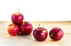η ανασκόπηση μήλων απομόνωσε το κόκκινο λευκό Στοκ φωτογραφίες με δικαίωμα ελεύθερης χρήσης