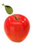 η ανασκόπηση μήλων απομόνωσε το κόκκινο λευκό Στοκ Φωτογραφίες