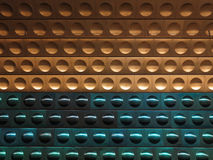 η ανασκόπηση περιβάλλει το χρυσό πράσινο μέταλλο Στοκ Εικόνα