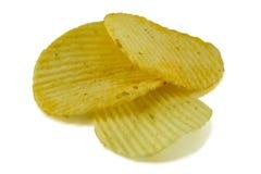 η ανασκόπηση πελεκά το λευκό σειράς πατατών παλιοπραγμάτων εικόνας τροφίμων Στοκ Εικόνες