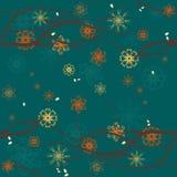 η ανασκόπηση 2 διακλαδίζεται floral άνευ ραφής Στοκ Φωτογραφίες