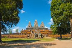 Η ανατολή Mebon είναι ένας 10ος ναός αιώνα σε Angkor στοκ φωτογραφία