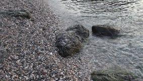 Η ανατολή στην παραλία απόθεμα βίντεο