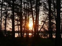 Η ανατολή στη λιμνοθάλασσα Στοκ φωτογραφίες με δικαίωμα ελεύθερης χρήσης