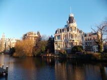 Η ανατολή στο Άμστερνταμ Στοκ Φωτογραφία