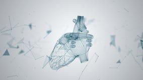 Η ανθρώπινη καρδιά διαμορφώνεται με την περιστροφή των μορίων απεικόνιση αποθεμάτων