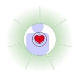 Η ανθρώπινη καρδιά σε κίνδυνο Στοκ φωτογραφίες με δικαίωμα ελεύθερης χρήσης