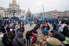 Η ανθρώπων πλατεία Maidan occupide κύρια και ρωτά το τη Στοκ φωτογραφίες με δικαίωμα ελεύθερης χρήσης
