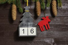Η αντίστροφη μέτρηση μέχρι τα Χριστούγεννα στοκ φωτογραφίες