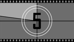 Η αντίστροφη μέτρηση στην αρχή της ταινίας διανυσματική απεικόνιση