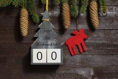 Η αντίστροφη μέτρηση Χριστουγέννων στοκ φωτογραφίες