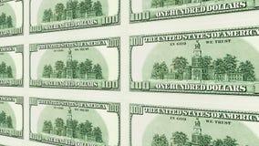 Η αντίστροφη πλευρά του δολαρίου 100 τιμολογεί την τρισδιάστατη προοπτική Στοκ Φωτογραφία