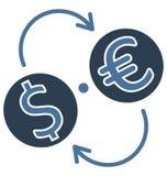 Η ανταλλαγή νομίσματος απομόνωσε το διανυσματικό εικονίδιο που μπορεί να είναι εκδίδει εύκολα ή τροποποίησε απεικόνιση αποθεμάτων