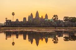 Η αντανάκλαση Angkor Wat, Siem συγκεντρώνει, Καμπότζη Στοκ φωτογραφία με δικαίωμα ελεύθερης χρήσης