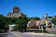 Η ανώτερη πόλη Κεμπέκ όπως βλέπει από τη χαμηλότερη πόλη, Κεμπέκ, Καναδάς Στοκ Εικόνες