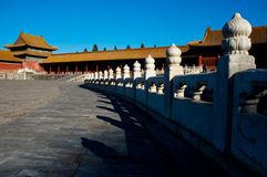 Η απαγορευμένη πόλη στο Πεκίνο στοκ εικόνα