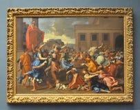 Η απαγωγή των γυναικών της Sabine, από Poussin Στοκ Φωτογραφίες