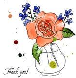 Η απεικόνιση αυξήθηκε και ξεχνώ-εμένα-λουλούδι διανυσματική απεικόνιση