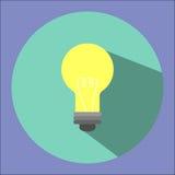 Η απεικόνιση είναι ένα εικονίδιο λαμπών φωτός Μπορέστε να χρησιμοποιηθείτε στις διάφορες δημοσιεύσεις Στοκ Φωτογραφία