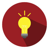 Η απεικόνιση είναι ένα εικονίδιο λαμπών φωτός Μπορέστε να χρησιμοποιηθείτε στις διάφορες δημοσιεύσεις Στοκ φωτογραφίες με δικαίωμα ελεύθερης χρήσης