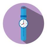 Η απεικόνιση είναι ένα εικονίδιο που παρουσιάζει εικόνα ρολογιών μπορέστε να χρησιμοποιηθείτε στα μέσα Στοκ εικόνα με δικαίωμα ελεύθερης χρήσης