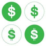 Η απεικόνιση είναι εικονίδιο μετρητών χρημάτων, νόμισμα εγγράφου, αμερικανικό δολάριο Στοκ Φωτογραφία