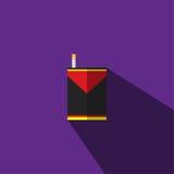 η απεικόνιση είναι μια εικόνα ενός κόκκινου, μαύρου, κίτρινου τσιγάρου με ένα τσιγάρο Στοκ εικόνες με δικαίωμα ελεύθερης χρήσης