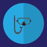 Η απεικόνιση είναι μια μαύρη εικόνα μασκών κατάδυσης Μπορέστε να χρησιμοποιηθείτε στα διάφορα μέσα Στοκ εικόνα με δικαίωμα ελεύθερης χρήσης