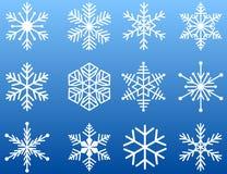 η απεικόνιση εικονιδίων απομόνωσε το καθορισμένο snowflake διανυσματικό λευκό Στοκ εικόνα με δικαίωμα ελεύθερης χρήσης