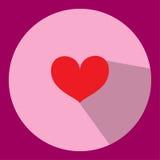 Η απεικόνιση εικονιδίων καρδιών μπορεί να χρησιμοποιηθεί στις διάφορες δημοσιεύσεις Στοκ Εικόνα
