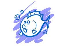 Η απεικόνιση ενός αστείου ψαριού κινούμενων σχεδίων Στοκ εικόνα με δικαίωμα ελεύθερης χρήσης