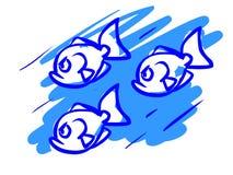 Η απεικόνιση ενός αστείου ψαριού κινούμενων σχεδίων Στοκ εικόνες με δικαίωμα ελεύθερης χρήσης