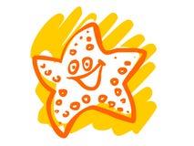Η απεικόνιση ενός αστερία κινούμενων σχεδίων Στοκ εικόνες με δικαίωμα ελεύθερης χρήσης